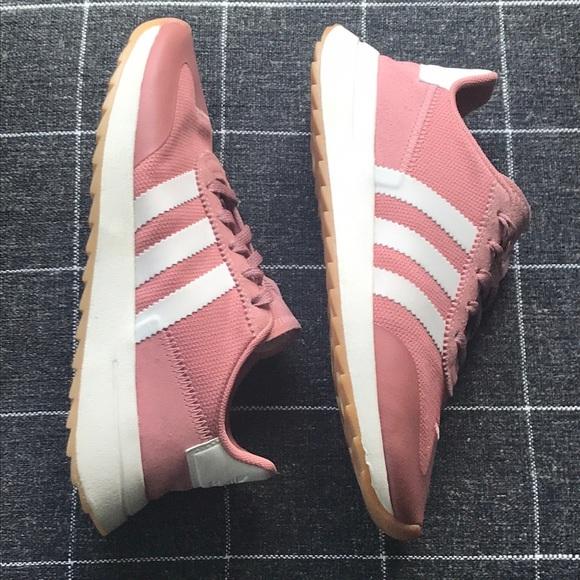 Adidas Flashback Raw Pink White Shoes